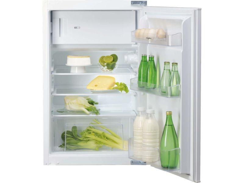 Réfrigérateur 1 porte 118l froid statique whirlpool 54cm a+, arg 9421 a+