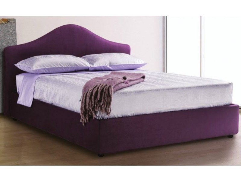 lit coffre madrigale haut de gamme avec t te de lit 160 200 cm tissu tweed lilas 20100856947. Black Bedroom Furniture Sets. Home Design Ideas