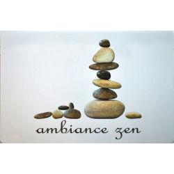 Set de table 28 x 44 cm transparent stones zen