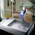 Robinet de lavabo à changement de couleur led