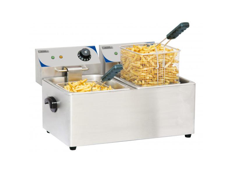 Friteuse électrique - 2 x 4 litres - 2 kw - casselin -