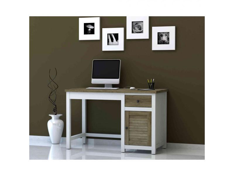 Bureau Conforama Destockage : Bureau tiroir porte en bois bu vente de bureau conforama