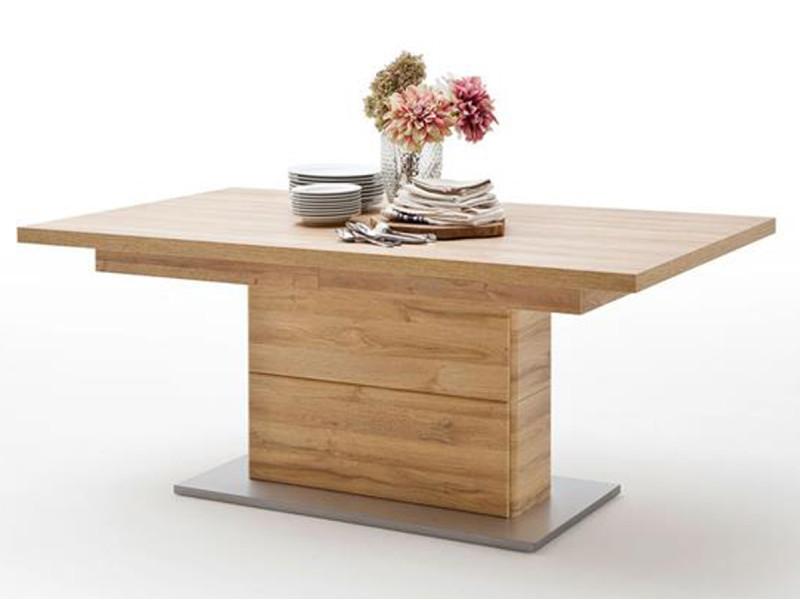 Table à manger extensible en chêne grandson - l.140-220 x h.77 x p.90 cm -pegane- PEGANE