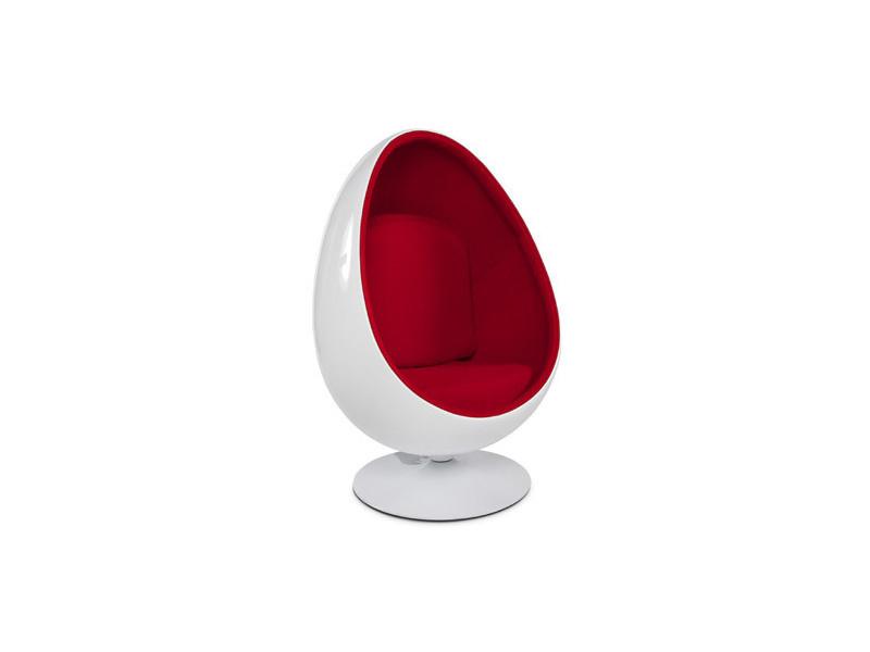 Fauteuil design 78x89x130 cm blanc et rouge - uova