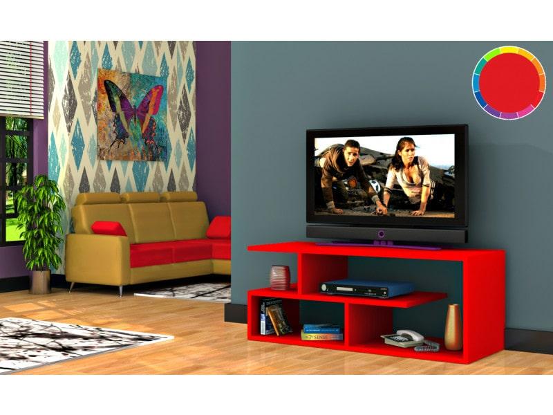 Meuble tv design optimum rouge