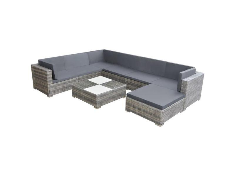 Icaverne - ensembles de meubles d'extérieur categorie ensemble de canapé de jardin 24 pcs résine tressée gris