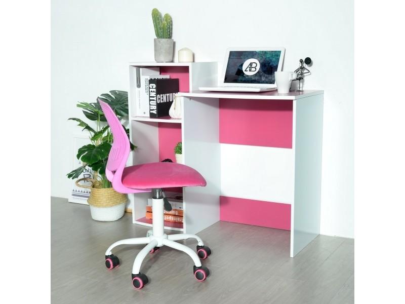 Ensemble de bureau et étagère de rangement rose & blanc - Vente de URBAN MEUBLE - Conforama