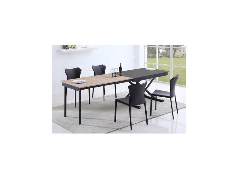 Table basse relevable vivaldi verre gris