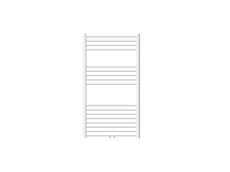 Ecd germany radiateur design sahara non electrique - 750 x 1200 mm - blanc - connexion central - sans kit de raccordement - forme droit - avec kit de montage mural - sèche-serviettes salle de bain 291004636