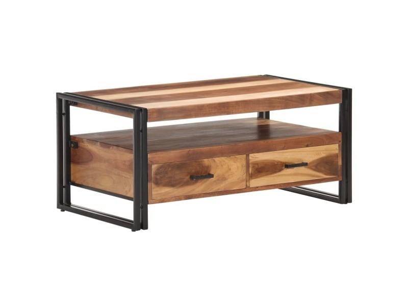 Vidaxl table basse 100x55x45 cm bois d'acacia massif 321559