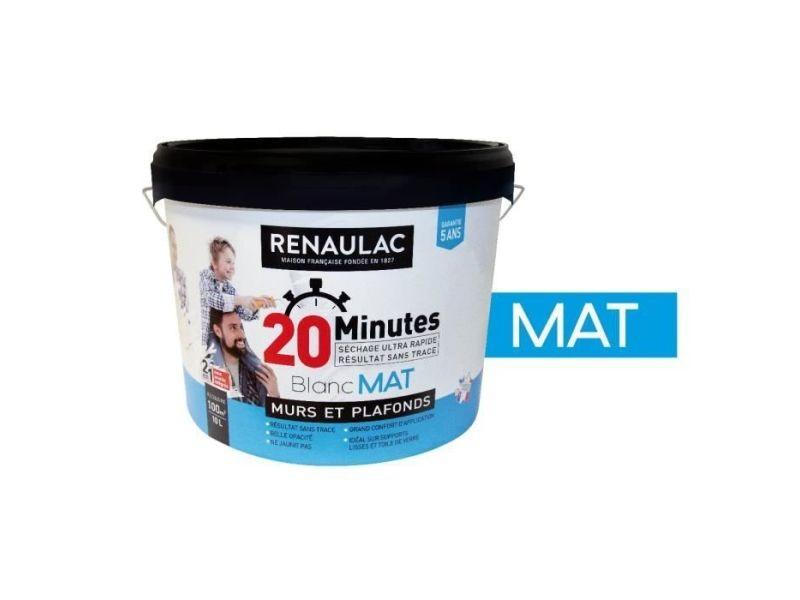 Peinture - vernis - traitement (lasure - effets decoratifs) peinture séchage ultra rapide blanc mat - 10l - 100m² / pot