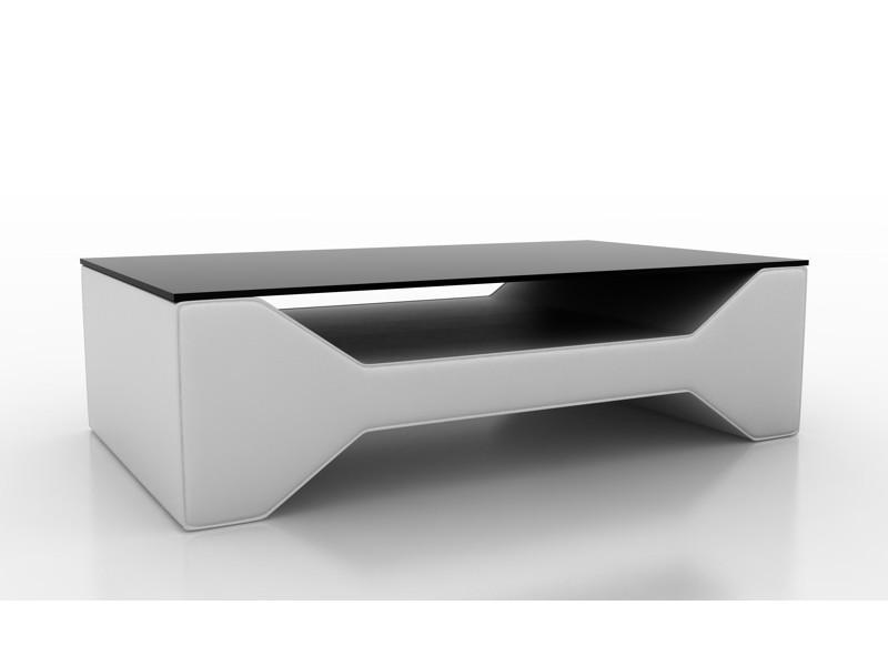 Table basse design blanche celia-