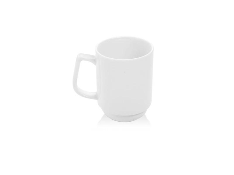 Mug empilable porcelaine bianco 250 ml - lot de 12 - fine dine - porcelaine 25 cl