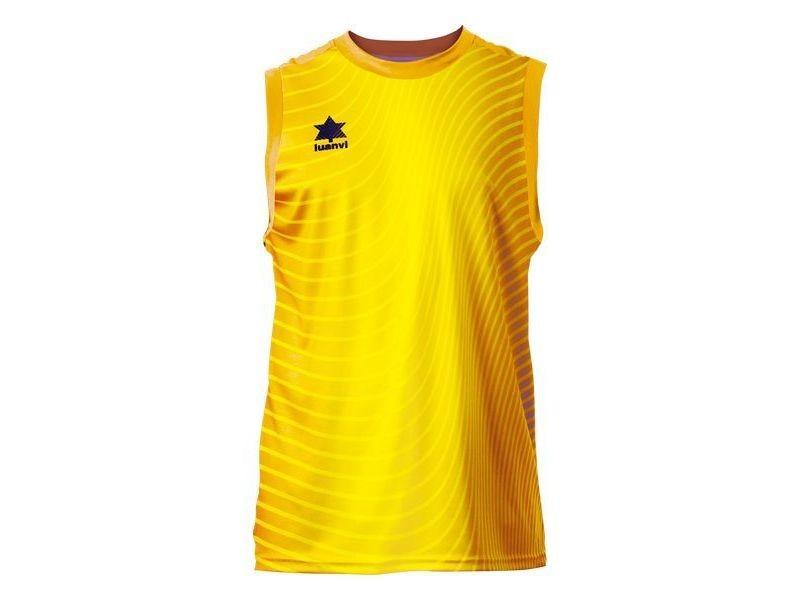 T-shirt de sport stylé taille s débardeur unisexe luanvi rio jaune