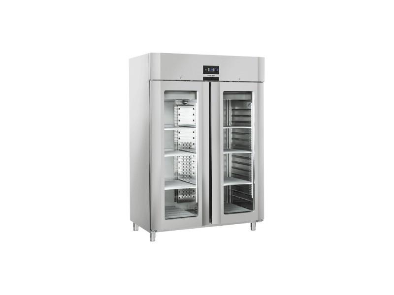 Armoire réfrigérée négative vitrée 2 portes - 1105 l - cool head - r290 2 portes vitrée
