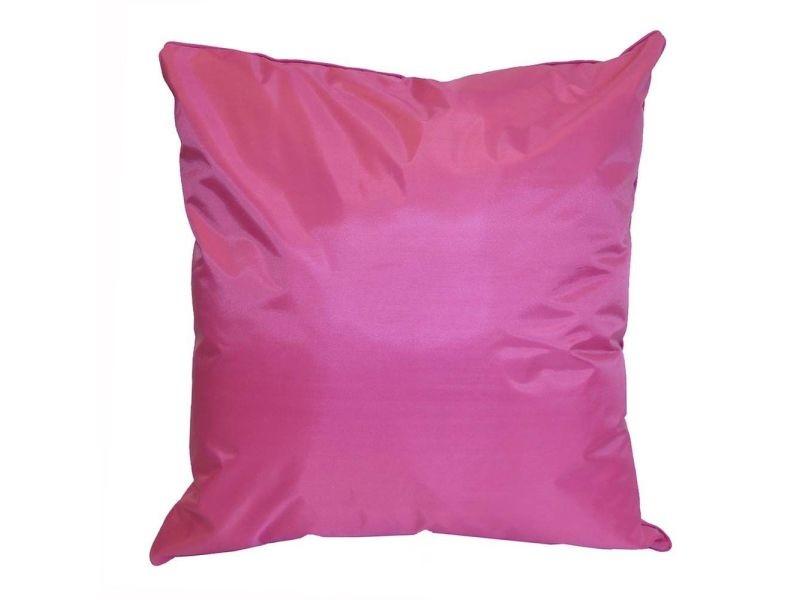 Coussin couleur fuchsia pour canapé de jardin 45 x 45 cm