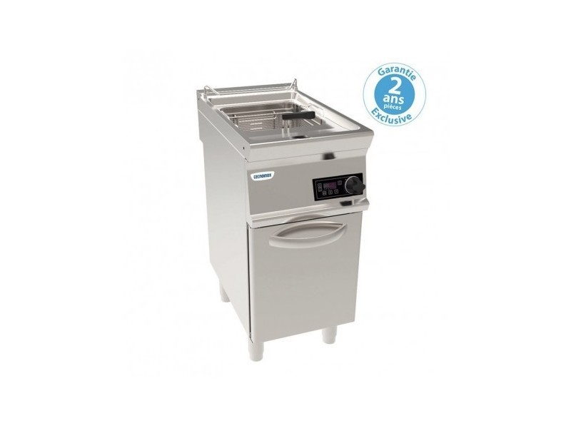 Friteuse électrique sur coffre - 13 litres - commandes électroniques - gamme 700 - module 400 - tecnoinox -