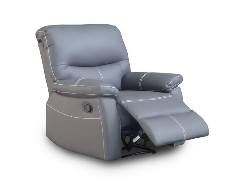 Dina - fauteuil relax gris