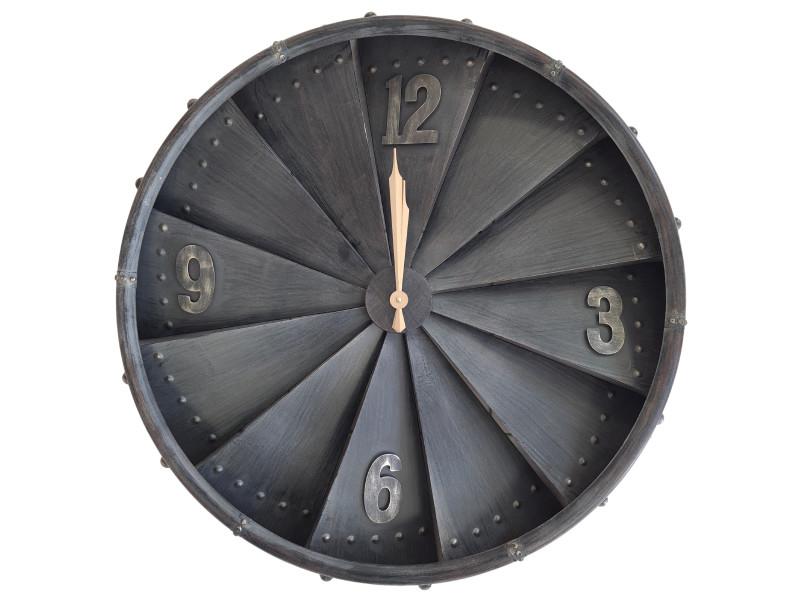 Pendule en métal vintage 80 x 80 cm - à suspendre