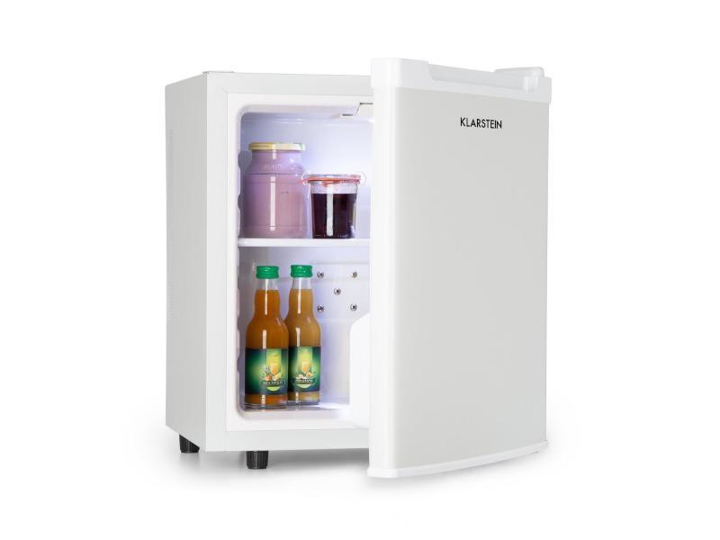 Klarstein silent cool réfrigérateur à boisson / minibar 30l - 24db - classe a+ - blanc