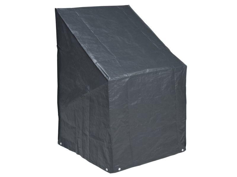 Superbe accessoires pour meubles d'extérieur selection andorre-la-vieille housse pour chaises empilées nature 110 x 68 x 68 cm pe gris foncé