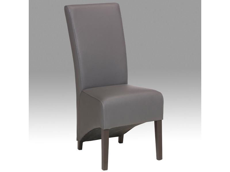 Chaise de salle manger grise camelia lot de 2 vente - Conforama chaises salle a manger ...