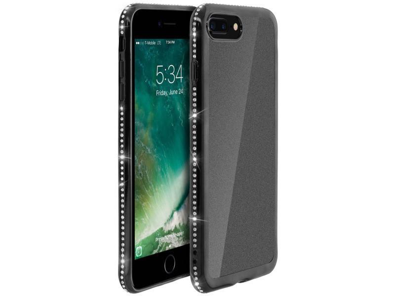 coque iphone 8 plus noire paillete