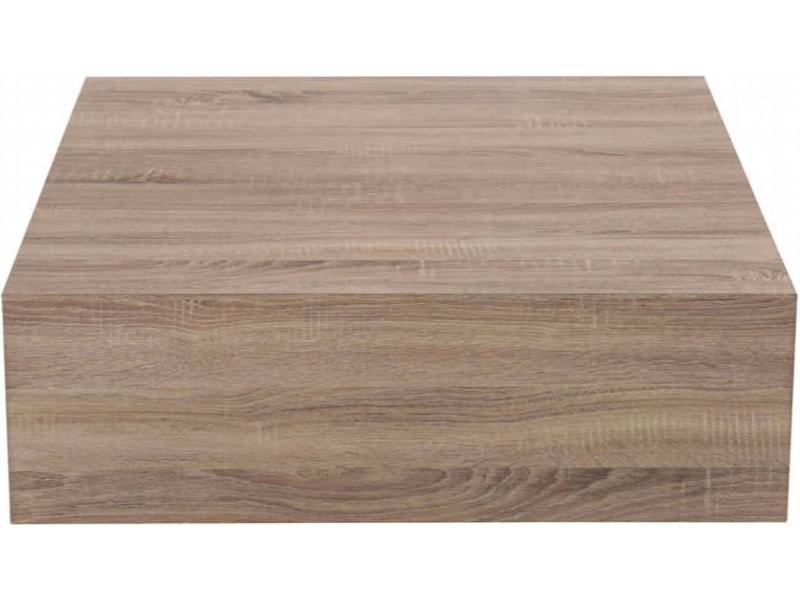 Table basse carrée bois bargo 68108