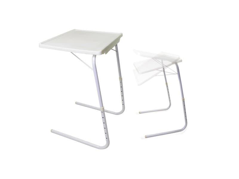 table d 39 appoint ajustable pliante repas support pc blanc. Black Bedroom Furniture Sets. Home Design Ideas