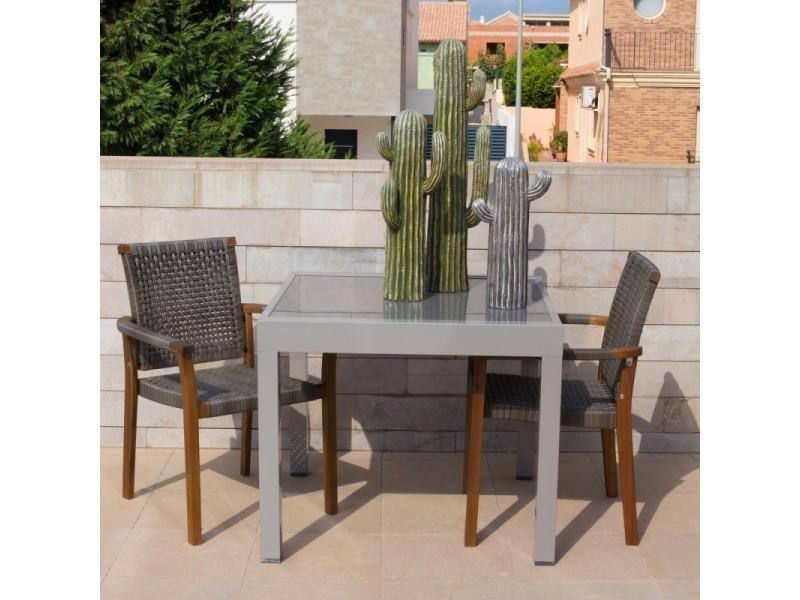 Et Toledo En Aluminium Verre Table De Extensible Gris Jardin 90180 dBhrQCxts