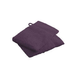 Gants de toilette deep purple 100% coton