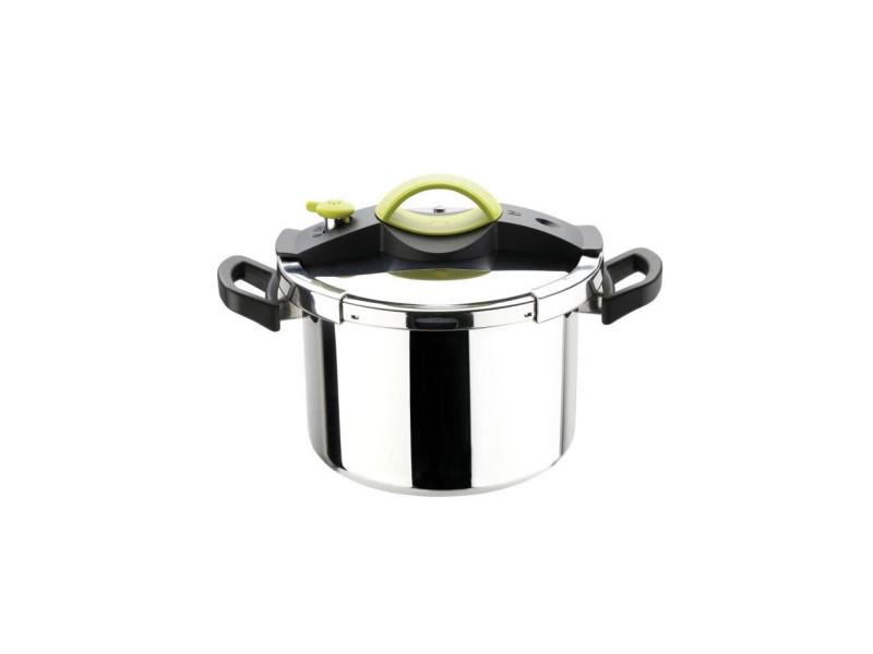 Sitram autocuiseur sitrapro avec panier vapeur - 8 l - o 24 cm - gris, vert et noir - tous feux dont induction 711160