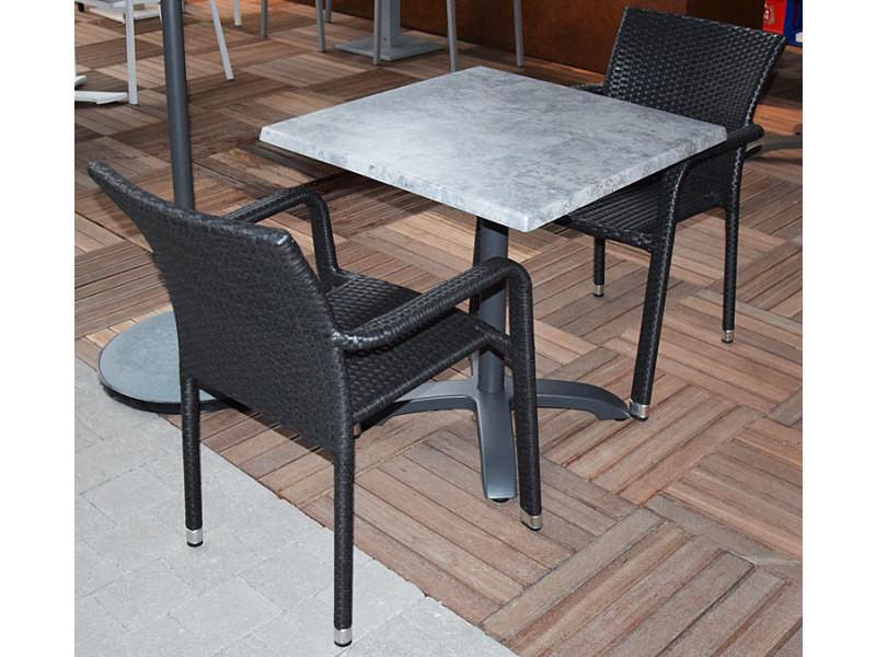 Alu2 Oglio Résine Pliante Chaises Tressée Table Béton Salon CdxWerBo