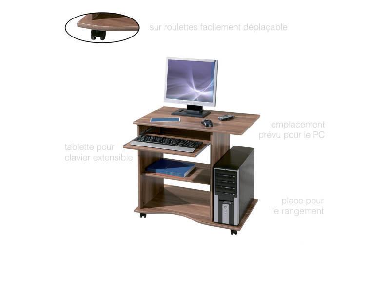 Bureau meuble informatique gain de place et pratique épuré