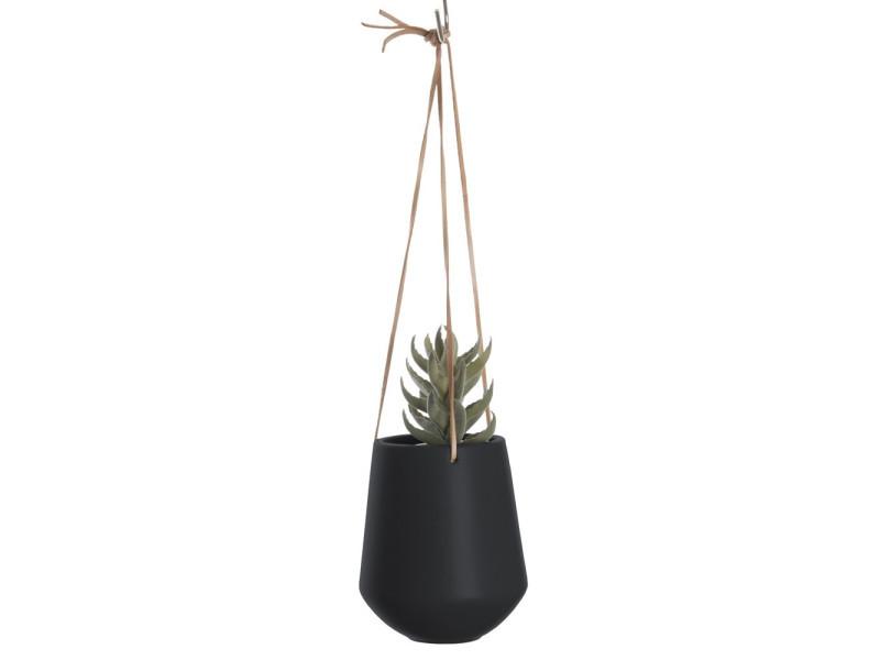 Cache-pot suspendu médium skittlie - h. 65 cm - noir mat
