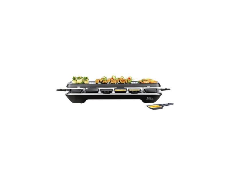 Tefal re522812 appareil a raclette inox+design 6 personnes - noir TEFALRE522812