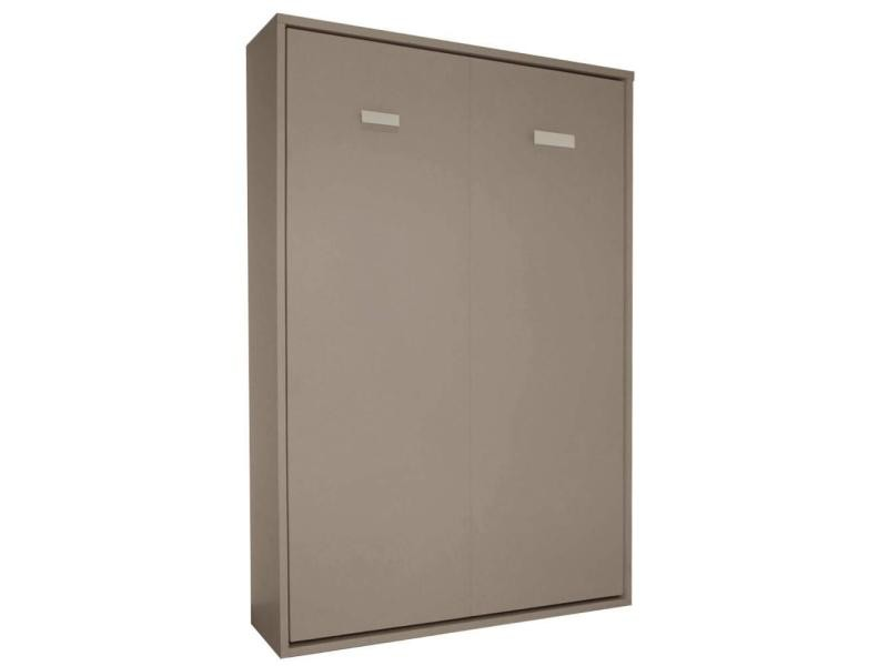 armoire lit escamotable smart taupe mat couchage 140 200cm 20100861077 vente de armoire conforama - Lit Escamotable Conforama