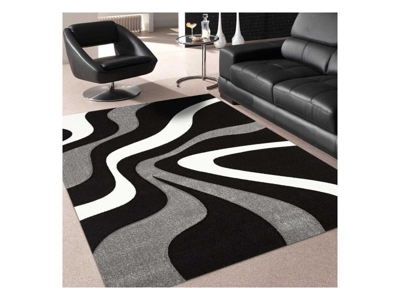 Tapis tendance pour la chambre nodage noir, gris, blanc 300 ...
