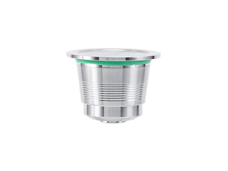 Capsule réutilisable rechargeable nespresso pour machine à café cafetière inox