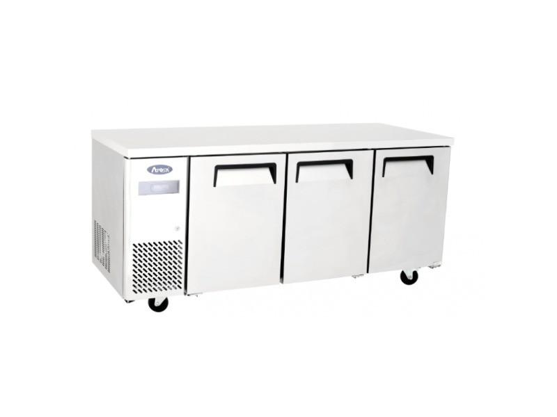 Table réfrigérée négative - profondeur 700 - atosa - r290 3 portes pleine