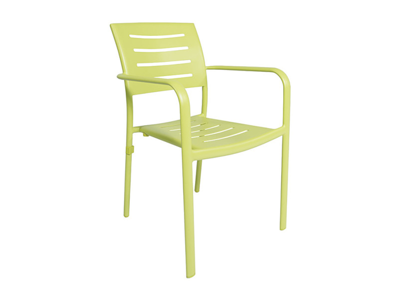 Chaise avec accoudoirs en aluminium vert anis brisbane - Vente de ...
