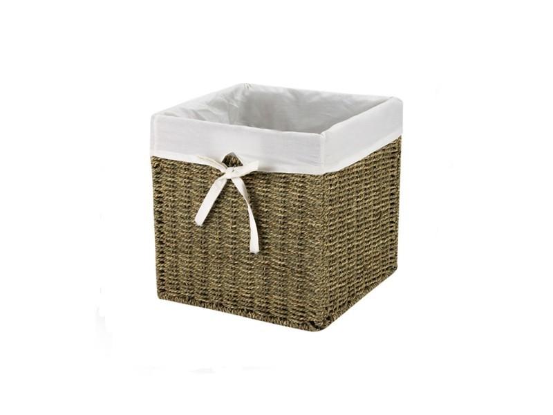 cube de rangement en jonc de mer petit mod le vente de cas me conforama. Black Bedroom Furniture Sets. Home Design Ideas