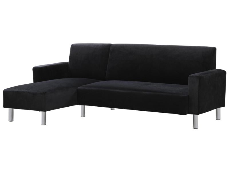 Canapé d'angle tissu réversible \