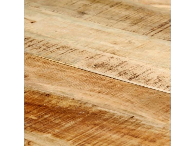 Vidaxl table de salle à manger 140x70x75 cm bois manguier massif brut 247811