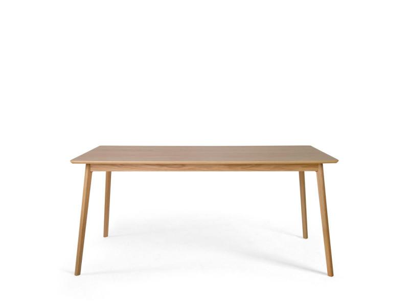 Skoll - table à manger en bois 160x80cm - couleur - chêne 150004