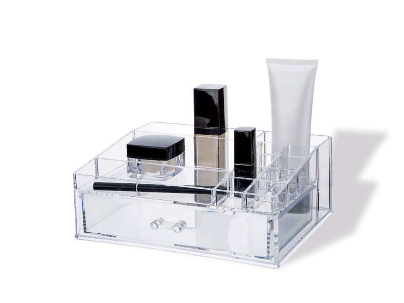 Organisateur transparent pour maquillage avec tiroir - Vente ...