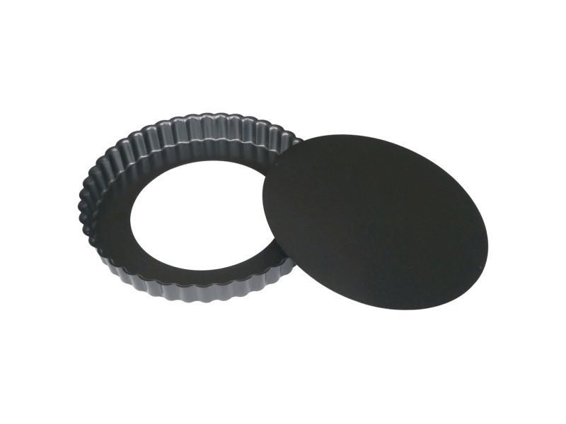 Moule à tarte 28 cm en acier anti adhèrent démontable