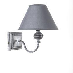 Applique charme gris en métal avec pied carré