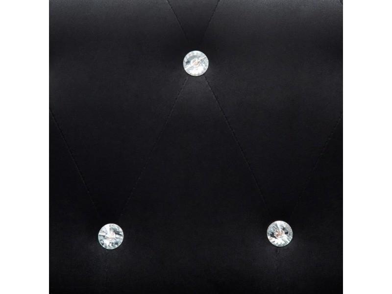 Icaverne - canapés gamme canapés chesterfield 2 pcs revêtement en velours noir
