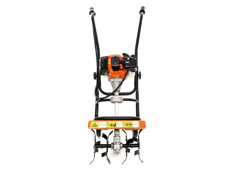 Dcraft - motobineuse à essence 52 cm³ puissance: 3,8kw - outil jardinage thermique - fraises robustes - régime: 6500 tours/ min - orange/noir